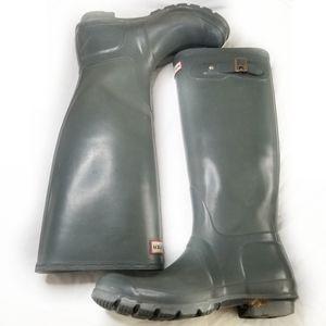 Hunter Gray Orginal Gloss Tall Rainboots EU 39